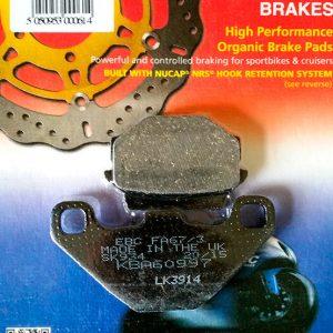 тормозные колодки для мотоцикла kawasaki ebc fa067/3