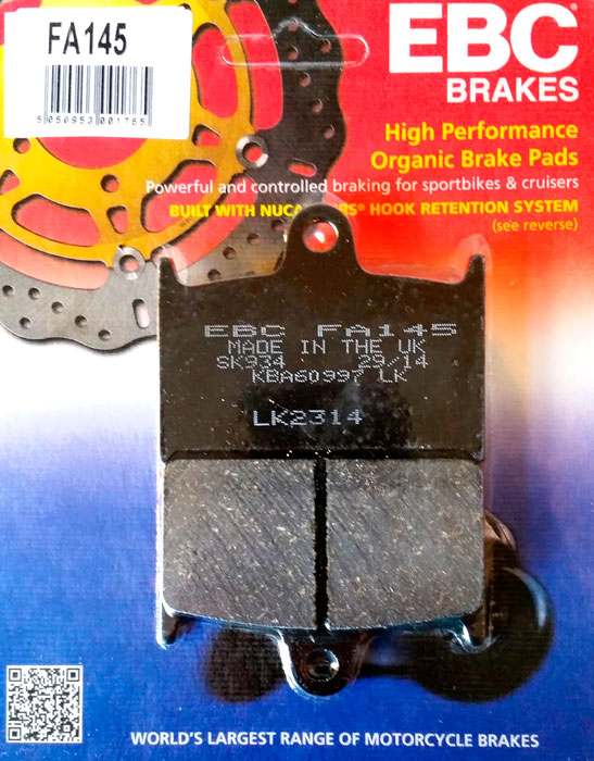 тормозные колодки для мотоцикла Suzuki EBC FA145