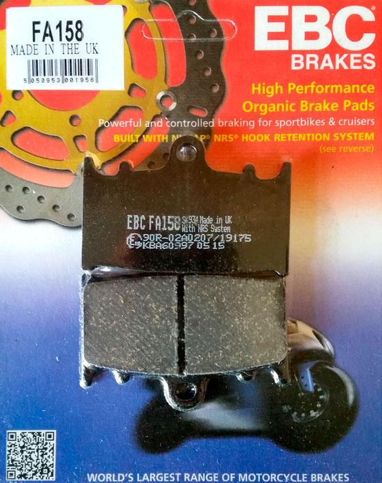 тормозные колодки для мотоцикла Suzuki EBC FA158