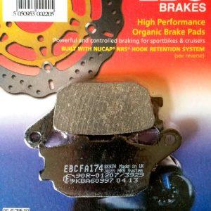тормозные колодки для мотоцикла Yamaha EBC FA174