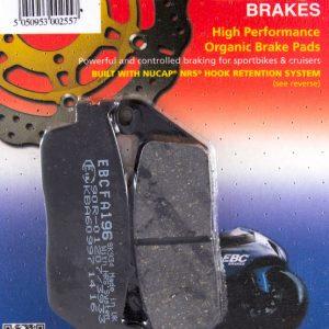 тормозные колодки для мотоцикла Honda EBC FA196