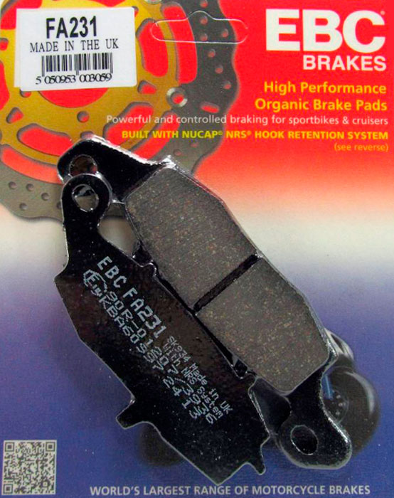 тормозные колодки для мотоцикла Suzuki EBC FA231