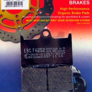 тормозные колодки для мотоцикла Yamaha EBC FA252