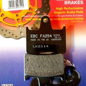 тормозные колодки для мотоцикла Kawasaki EBC FA254