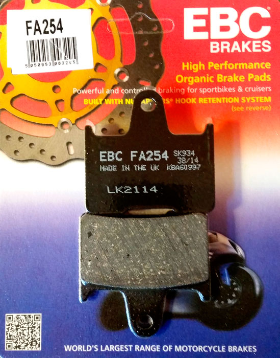 тормозные колодки для мотоцикла Suzuki EBC FA254