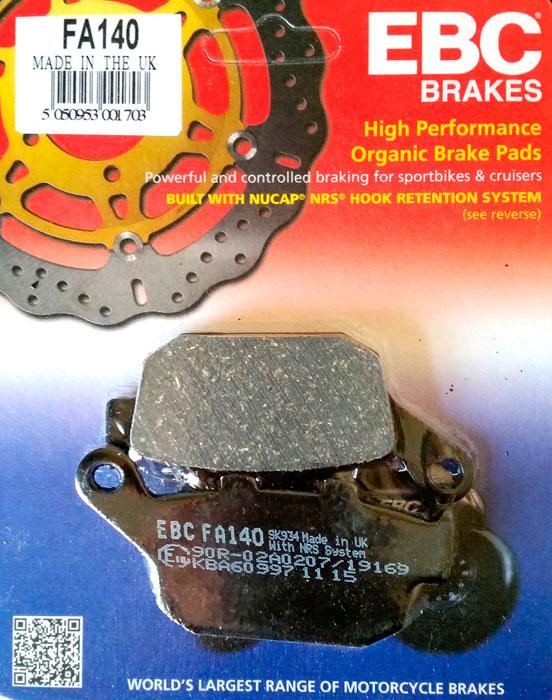 тормозные колодки для мотоцикла Suzuki EBC FA140