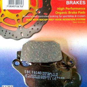 тормозные колодки для мотоцикла Yamaha EBC FA140