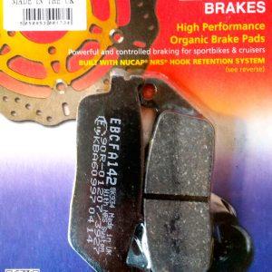 тормозные колодки для мотоцикла Honda EBC FA142