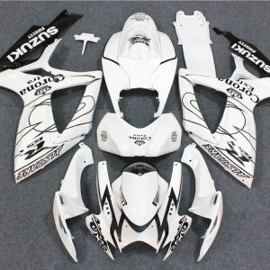 Пластик на мотоцикл Suzuki GSX-R 650/750 2006-2007 Черно-Белый Corona Extra