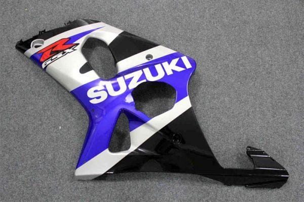 Пластик на мотоцикл Suzuki GSX-R1000 2000-2002 Сине-Черно-Серебристый-1