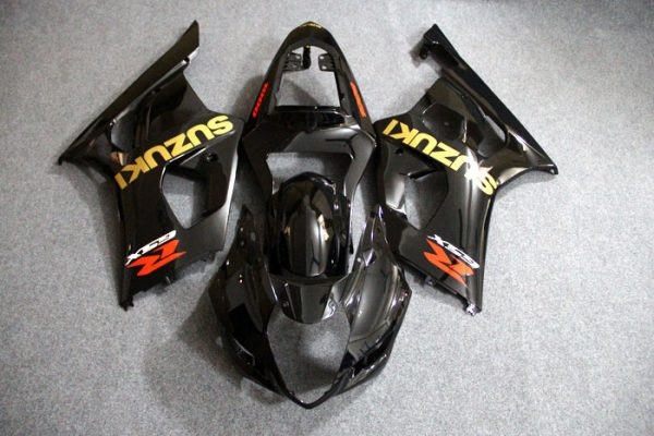 Пластик на мотоцикл Suzuki GSX-R1000 03-04 Черный