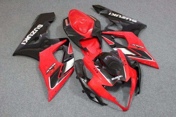 Пластик на мотоцикл Suzuki GSX-R1000 05-06 Красно-Черный