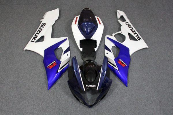 Пластик на мотоцикл Suzuki GSX-R1000 05-06 Сине-Белый