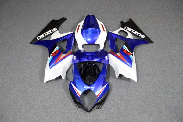 Пластик на мотоцикл Suzuki GSX-R1000 07-08 Color+ Бело-Синий