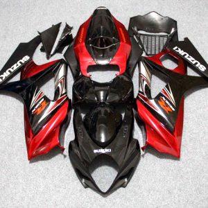 Пластик на мотоцикл Suzuki GSX-R1000 07-08 Color+ Черно-Красный