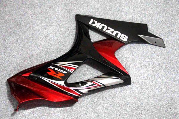 Пластик на мотоцикл Suzuki GSX-R1000 07-08 Color+ Черно-Красный-7