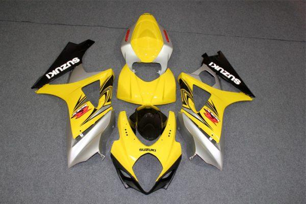Пластик на мотоцикл Suzuki GSX-R1000 07-08 Желто-Серый