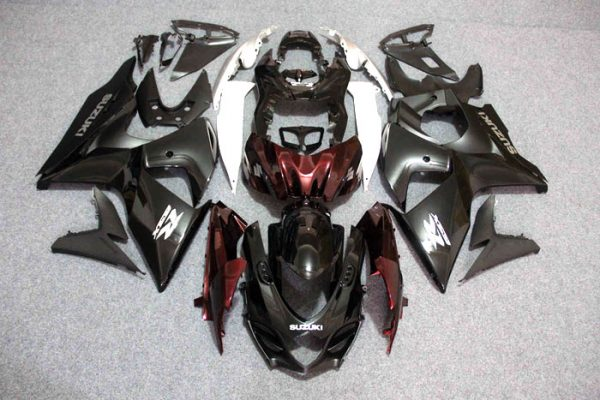 Пластик на мотоцикл Suzuki GSX-R1000 09-15 Черно-Бордовый