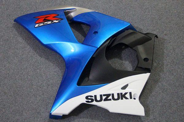 Пластик на мотоцикл Suzuki GSX-R1000 09-15 Сине-Белый-1