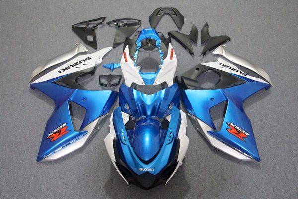 Пластик на мотоцикл Suzuki GSX-R1000 09-15 Сине-Белый