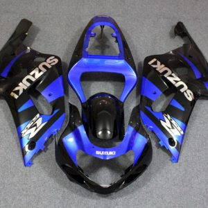 Пластик на мотоцикл Suzuki GSX-R 650/750 01-03 Сине-Черный (комплект)