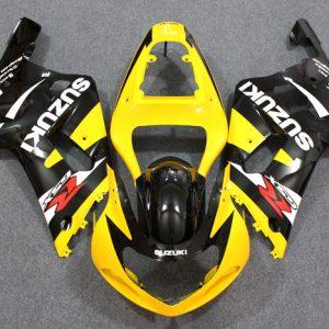 Пластик на мотоцикл Suzuki GSX-R 650/750 01-03 Желто-Черный