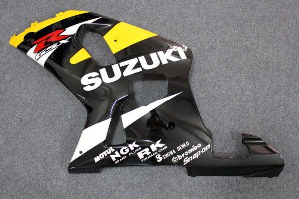 Пластик на мотоцикл Suzuki GSX-R 650/750 01-03 Желто-Черный-5