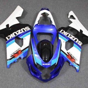 Пластик на мотоцикл Suzuki GSX-R 650 / 750 04-05 Сине-Бело-Черный