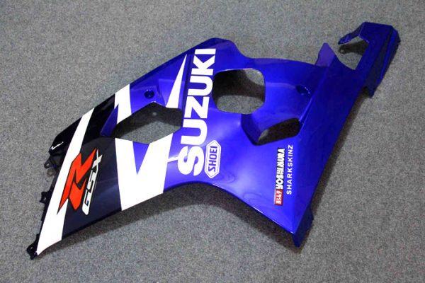 Пластик на мотоцикл Suzuki GSX-R 650 / 750 04-05 Сине-Белый-6