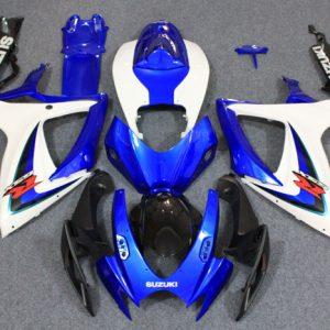 Пластик на мотоцикл Suzuki GSX-R 650/750 2006-2007 Сине-Белый