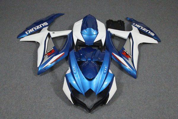 Пластик на мотоцикл Suzuki GSX-R 650/750 08-10 Color+ Сине-Белый