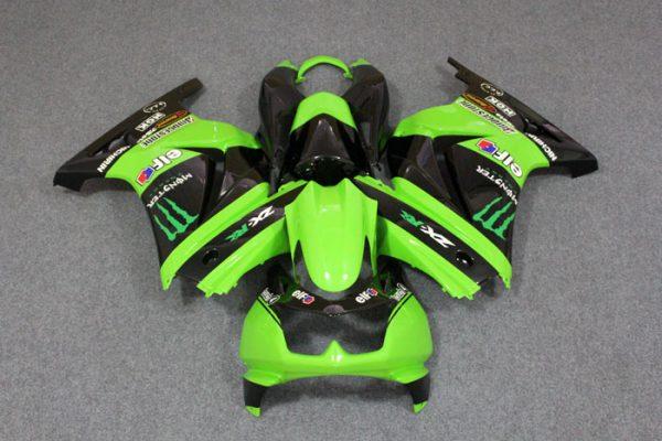 Пластик на мотоцикл Kawasaki Ninja 250R Monster Energy