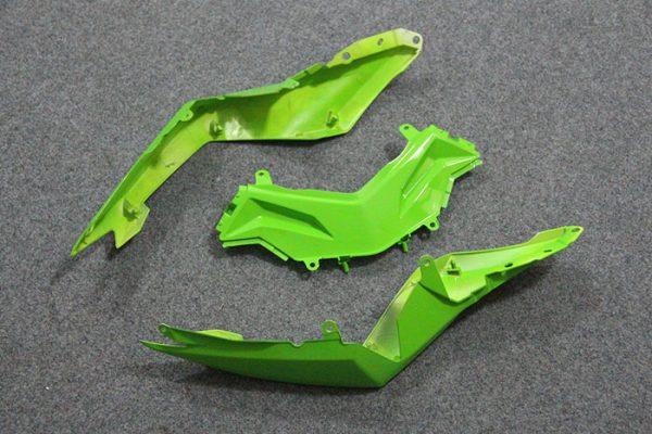 Пластик на мотоцикл Kawasaki Ninja 300R Color+ Зеленый-5