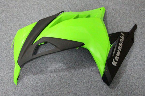 Пластик на мотоцикл Kawasaki Ninja 300R Color+ Зеленый-6