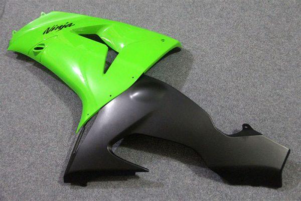Пластик на мотоцикл Kawasaki ZX-10R 2004-2005 Зелено-Черный-1