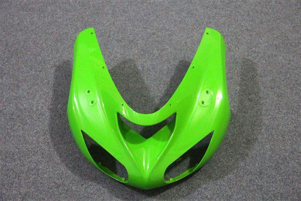 Пластик на мотоцикл Kawasaki ZX-10R 2004-2005 Зелено-Черный-2