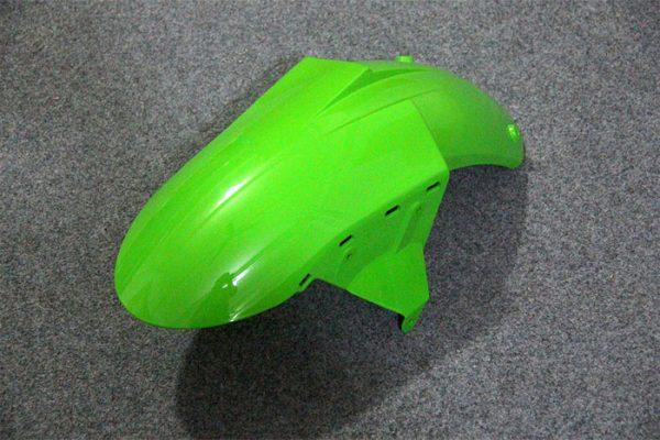 Пластик на мотоцикл Kawasaki ZX-10R 2004-2005 Зелено-Черный-3