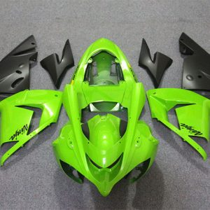 Пластик на мотоцикл Kawasaki ZX-10R 2004-2005 Зелено-Черный