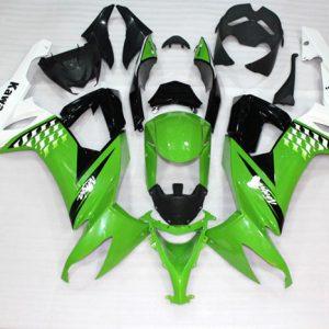 Пластик на мотоцикл Kawasaki ZX-10R 2008-2010 Color+ Зелено-Черный