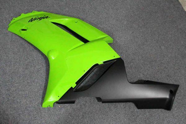 Пластик на мотоцикл Kawasaki ZX-6R 07-08 Зелено-Черный-1