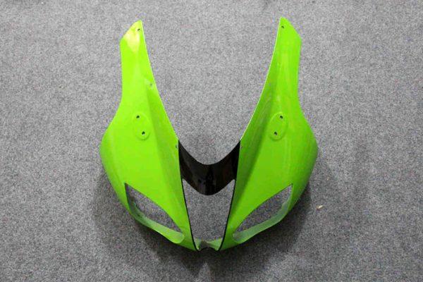Пластик на мотоцикл Kawasaki ZX-6R 07-08 Зелено-Черный-3