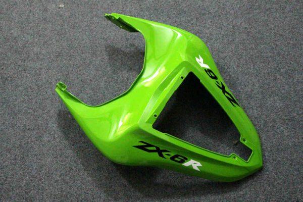Пластик на мотоцикл Kawasaki ZX-6R 07-08 Зелено-Черный-4
