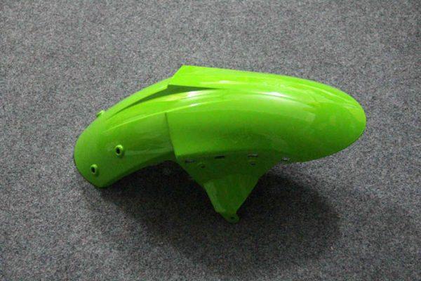 Пластик на мотоцикл Kawasaki ZX-6R 07-08 Зелено-Черный-5