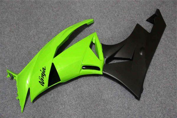 Пластик на мотоцикл Kawasaki ZX-6R 09-12 Зелено-Черный-1