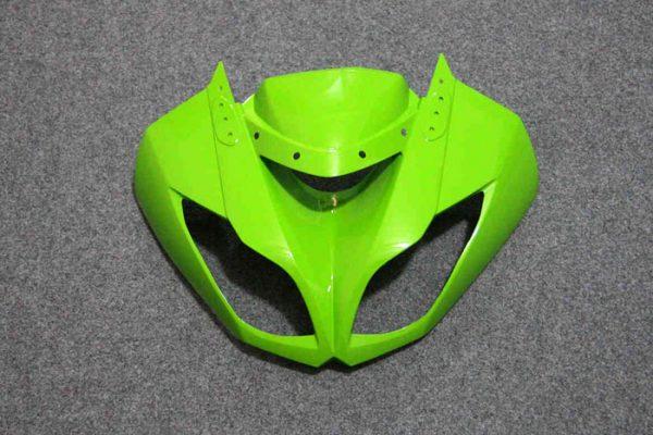 Пластик на мотоцикл Kawasaki ZX-6R 09-12 Зелено-Черный-2