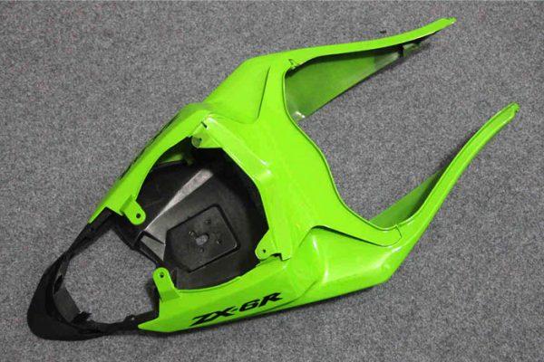 Пластик на мотоцикл Kawasaki ZX-6R 09-12 Зелено-Черный-4