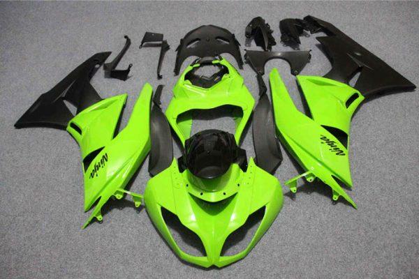 Пластик на мотоцикл Kawasaki ZX-6R 09-12 Зелено-Черный