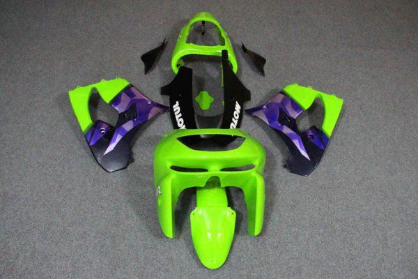 Пластик на мотоцикл Kawasaki ZX-9R 1998-1999 Зелено-Фиолетовый