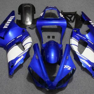 Пластик на мотоцикл Yamaha YZF-R1 00-01 Color+ Сине-Белый