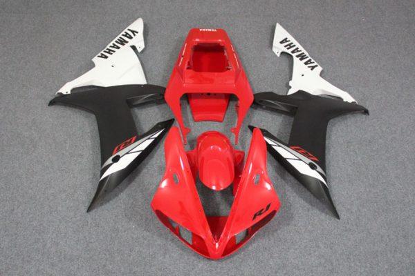 Пластик на мотоцикл Yamaha YZF-R1 02-03 Красно-Черно-Белый